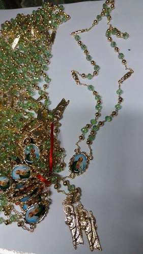 San Judas Rosario De Perla Color Verde Oferta