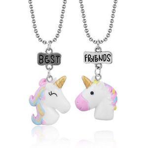 Set 2 Collares Unicornios Best Friends Mejores Amigos