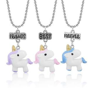 Set 3 Collares Unicornios Best Friends Forever Amigos
