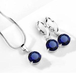 Set Aretes Y Collar Con Cristales Swarovsk Regalo
