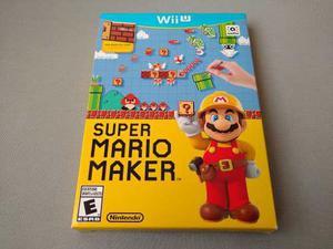 Super Mario Maker Con Libro De Arte Para Nintendo Wii U