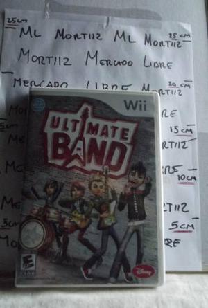 Ultimate Band Wii Disney Seminuevo Video Juego Rock Musica