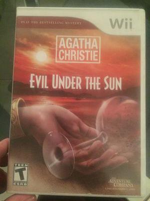 Wii Juegos Evil Under The Sun Agatha Christie