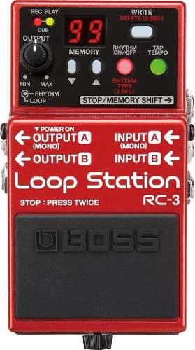 Boss Rc-3 Pedal Para Guitarra Eléctrica Loop Station
