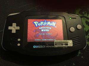 Gameboy Advance Retroiluminado Backlight Negro Envio Gratis