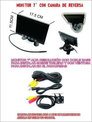 Monitor 7 Plg Con Camara De Reversa Vision Hd