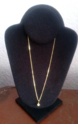 Perla sintetica con Cadena Chapa Oro 18 Kt 44 cms Nuevas