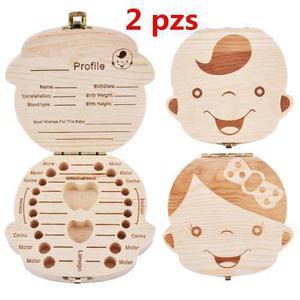 2 Caja Organizadora Recuerdo Para Dientes Bebe Niño Niña
