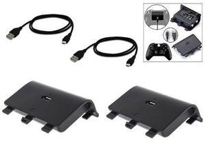 2 Piezas Batería Carga Y Juega Para Control Xbox One