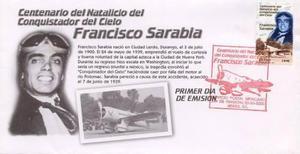 2000 Fdc Sobre Primer Día Francisco Sarabia Aviación