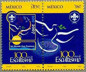 2007 Scout Escultismo En México Rosa De Los Vientos Mnh