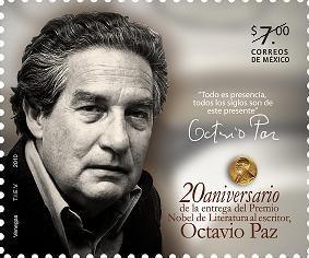 2010 Octavio Paz Premio Nobel Literatura Escritor Mnh Sello