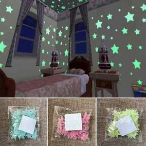 50 Paq Estrellas Fluorescentes 100 Unids + Luna Envio Expres