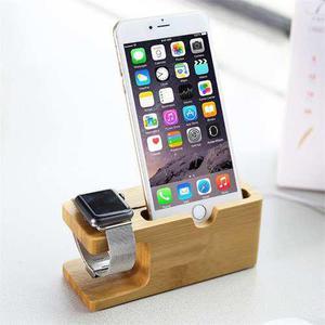 Base Para Iphone / Apple Watch Android - Bambu Bamboo