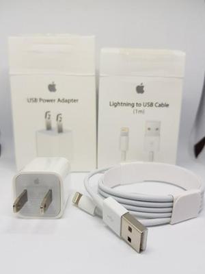 Cable 1m Y Cargador Original Iphone 5 6 7 8 X Envio Gratis