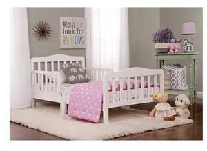Cama Infantil Madera Color Blanco Con Colchon Envio Gratis