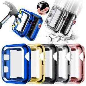 Case Protector Pantalla Mica Tpu Iwatch S 3 2 1 38mm 42mm