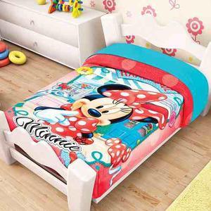 Cobertor Frazada Bebe Minnie Mouse Mimi Cunero Cuna Niña Bb