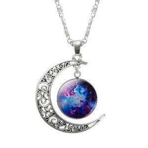 Collares Collar Luna Universo Estrellas Novia Amiga Mayoreo