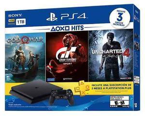 Consola Playstation 4 Slim Ps4 1tb Hits Bundle En Wg !!