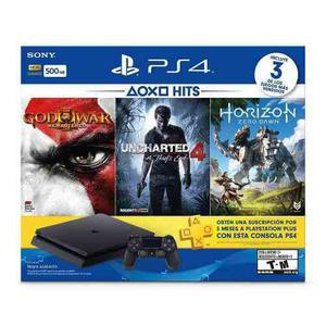 Consola Playstation Ps4 Slim, 500gb, Color Negro, Con Juegos