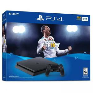 Consola Ps4 Slim 1tb Con Fifa 18 En Whole Games !!