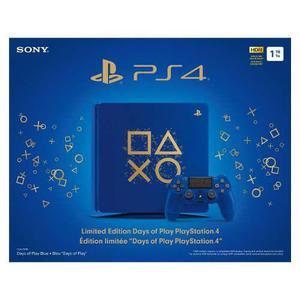Consola Ps4 Slim 1tb Edición Limitada Azul Nueva Sellada