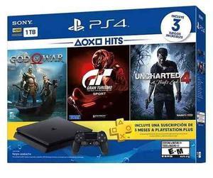 Consola Ps4 Slim 1tb God Of War +2 Juegos + Membresia Nuevo