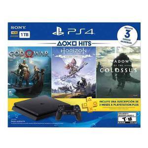 Consola Ps4 Slim 1tb God Of War+horizon+ Membresia Nuevo