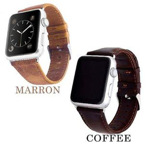 Correa De Piel Retro Premium Para Apple Watch + Mica Y Case