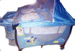 Cuna Corral De Viaje Mickey, 2 Niveles Con Cambiador, Bebé