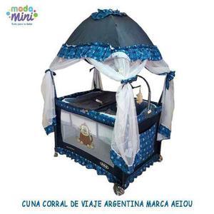 Cuna Corral De Viaje Velo Alto Móvil Musical Varios Colores
