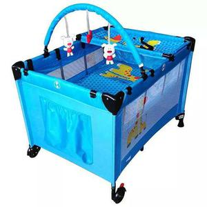 Cuna De Viaje P/bebe Azul Mod K800 Trendykids Msi