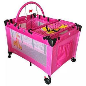 Cuna De Viaje P/bebe Rosa Mod K800n Trendykids Msi