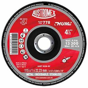 Disco De Corte De Metal 778 Hum 4-1/2x3/64x7/8 Austromex
