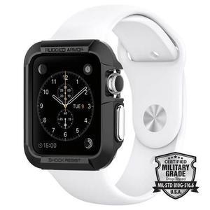 Funda Spigen Rugged Armor Apple Watch 42mm Serie 3 2 1 Negro