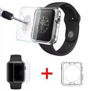Funda Tpu Apple Watch Iwatch + Cristal Templado 38 Y 42 Mm