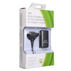 Kit Carga Y Juega Control Xbox 360 + Bateria 4800mah