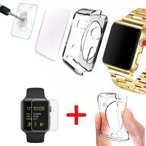 Kit Case Protector Tpu + Mica Watch 38mm 42mm Serie 1 2 3