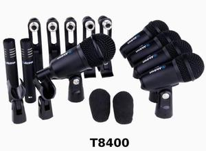 Kit De 7 Micrófonos P/ Bateria Alctron T8400 Incluye Clamps