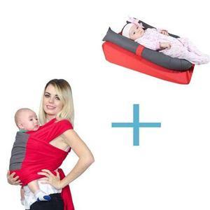 Kit Fular Elástico + Colchón Cojín Antireflujo Para Bebé
