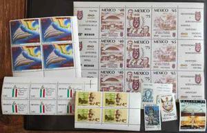 Mexico 1977-1986 Lote De Errores Filatelicos Nuevos Mint Nh