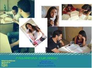 Pasantías de Matemáticas, Física, Química e Ingles