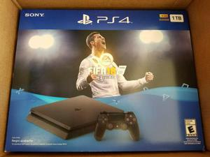 Playstation 4 Slim Ps4 1tb, Fifa 18 Nuevo 12msi, Negociable