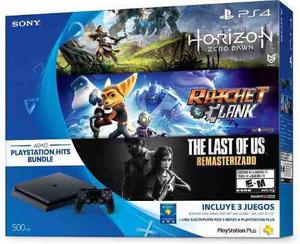 Playstation 4 Slim Ps4 500gb Con Hits Bundle 3 Juegos
