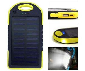 Power Bank Solar Waterproof 5000 Mah + Lampara Completa