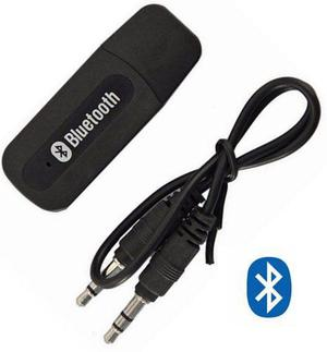 Receptor Bluetooth De Audio Usb Con Cable Auxiliar De 3.5 Mm