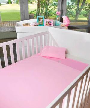 Sabanas De Camiseta Para Cuna De Bebe Rosa Azul Chiquimundo