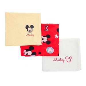 Set 3 Sabanas Para Envolver A Tu Bebe Recien Nacido Mickey