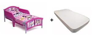 Set Cama Infantil Toddler Con Colchon Disney Minnie Mouse